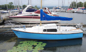 18 ft Sailboat with trailer, $1400