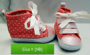 Baby girl shoes from size 0 to size 4