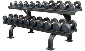 5-50 lb Commercial Dumbbell Set w/Rack - Blue ZKSCSSRCDSETB