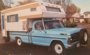 1971 Ford f250 camper special pick up truck +11ft camper