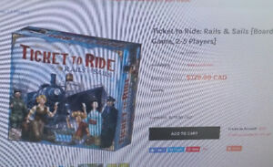 Brand New Game, Ticket to Ride Rails and Sails. Still in package