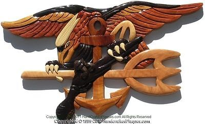 NAVY SEALS TRIDENT - THE BUDWEISER - Handcrafted Wooden Military Plaques