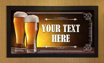 Personalised Lager Beer Pint Glasses Bar Runner Pub Club Cafe Cocktail Mat