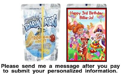 Candy Land Party (12 Candy Land Birthday Party Capri Sun Stickers Labels Baby Shower)