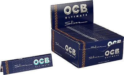 50 x OCB ULTIMATE Long Slim Blau 32 Blatt Papers Blättchen Zigarettenpapier NEU