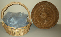 "Wicker Gift Basket- 13"" Diameter"