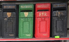 Old vintage antique style pillar cast iron post boxes