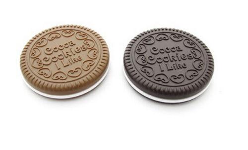 1x Mini Pocket Chocolate Cookie Compact Mirror + Comb Make Up Mirrors U nd