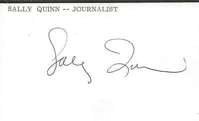Sally Quinn Signed 3X5 Index Card Jsa B