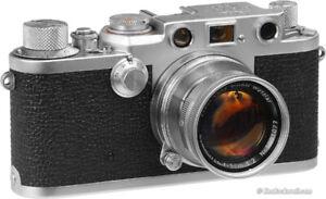 Recherche leica iii ,f , g camera avec lens