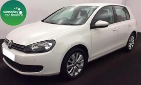 £157.25 PER MONTH WHITE 2012 VW GOLF 1.6 TDI MATCH 5 DOOR DIESEL MANUAL