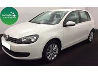 £169.89 PER MONTH WHITE 2012 VW GOLF 1.6 TDI MATCH 5 DOOR DIESEL MANUAL