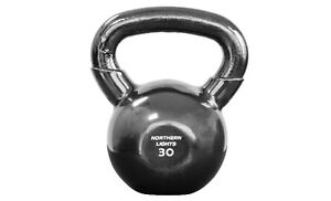 Northern Lights Round Vinyl Coated Kettlebells,30lbs KBRVTKOLB30