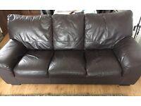 DFS Dark brown 3 Seater sofa.