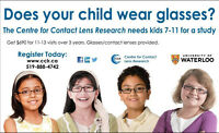 Seeking participants for near-sighted child study at UofW CCLR