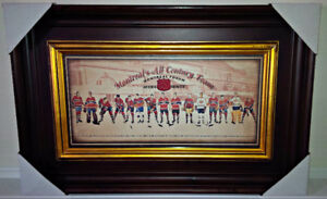 MONTREAL CANADIENS ALL CENTURY TEAM W/ MONTREAL FORUM RED SEAT