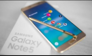 Samsung Note5 - Gold color. With stylus