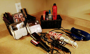 Beauty - 4 different Curling Irons, traveling hair dryer, and br