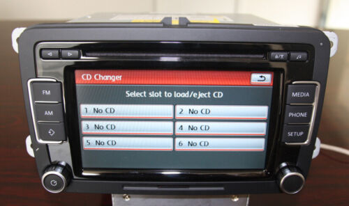 VW Autoradio RCD510 RDS AUX CD Caddy Golf Passat Tiguan CADDY POLO with Français
