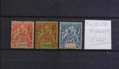 ! Gabon 1904-1907.   Stamp. YT#20, 22, 23. €46.00!