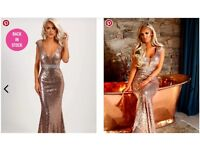 Limited Edition Spell Bound Rose Gold Sequin Maxi Dress - New - Size 14 - RRP £99 - Prom/Bridesmaid