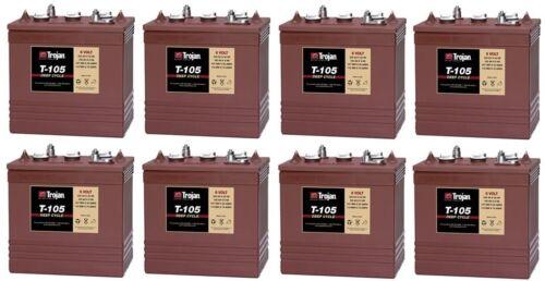 6 Volt Golf Cart Batteries - Trojan Battery T-105 6V/225Ah (8 Pack, 48V)