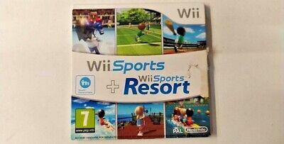 NINTENDO WII SPORT + WII SPORT RESORT IN ITALIANO per Nintendo WII