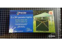 Premier Decorations 3 x 3 m 80 LED Lights for Gazebo with Timer - Warm White £10