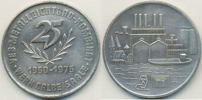 DDR Medaille, Calbe Saale VEB Metalleichtbaukombinat, 25 Jahre 1950 - 1975
