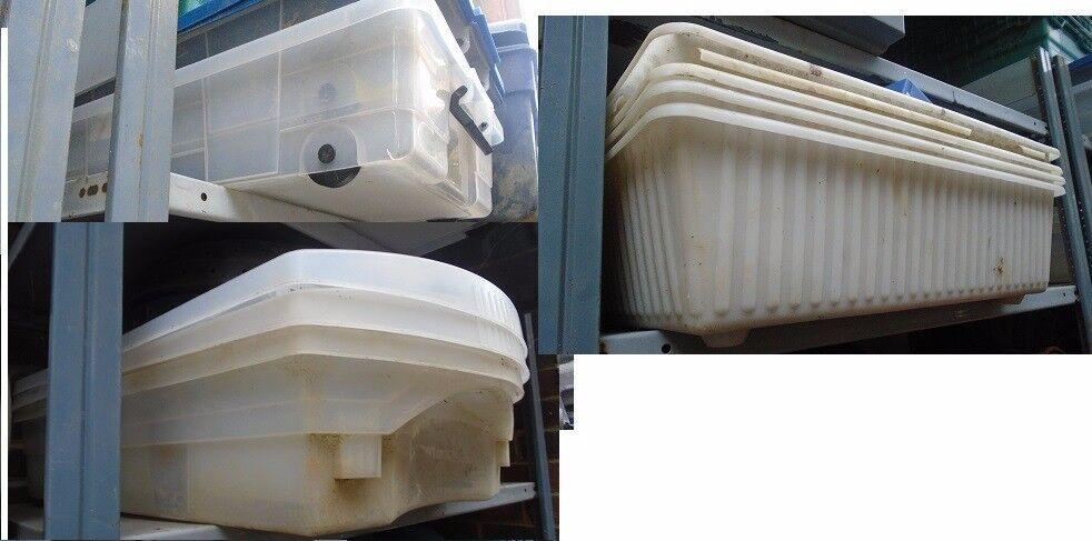 Joblot of underbed storage plastic boxes