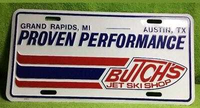 Butch's Jet Ski Licence Plate NOS Vintage Kawasaki JS 440 550 650 750 sx 800 sxr