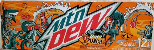 Mtn Dew Baja Punch 12 oz Cans (Pack Of 12)