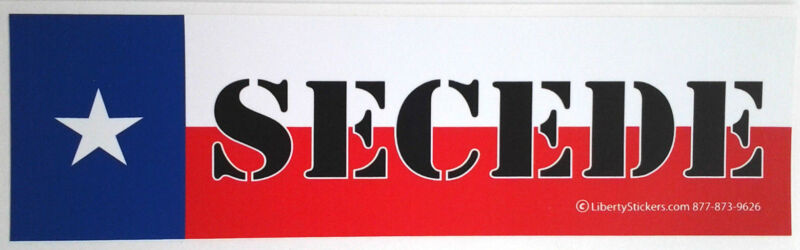 SECEDE TEXAS Pro-Trump Bumper Sticker L