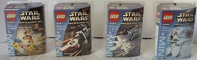 LEGO Star Wars - Rare LOT of 4 Mini Figures Complete Set New & Sealed 2003