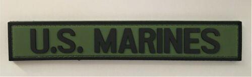 USMC Marine OD Green Service Strip PVC Patch Hook & Loop Recon Infantry SOI 1147