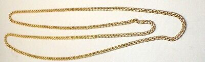 Elegant Estate Italy Solid 18K Yellow Gold Double Link Chain Necklace 32