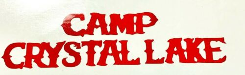 Camp Crystal Lake Vinyl Decal Friday the 13th Car Window Wall Laptop Netbook