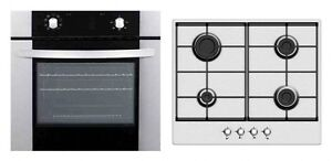 Baumatic Built in 60cm Single Electric Oven and FFD Gas Hob in stainless steel