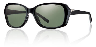 Smith Optics Facet Sunglasses Black Frame Chromapop Polarized Grey Green (Smith Facet Sunglasses)