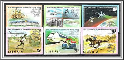 Liberia #663-668 (v) UPU Issue Imperf MNH