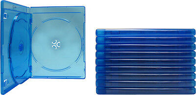 (10) BR3R12BL Triple Blu-Ray Standard Empty Replacement Boxes Cases 3 Disc 12mm