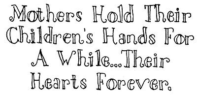 Unmounted Rubber Stamps, Sayings,  Sentiments, Mothers Day, Children, Babies,  - Mothers Day Kids Crafts