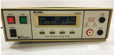 Associated Research Hy Pot Ii 3565d Acdc Withstand Voltage Tester W Opt 3 Ott