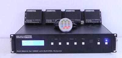 Gefen GEF-HDFST-444-4ELR 4x4 HDMI Matrix 4x ELR-POL Receivers MSRP: $8,499 for sale  Shipping to India