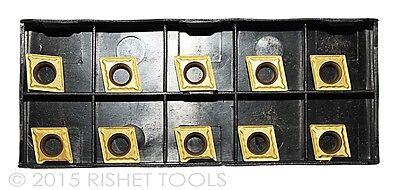 RISHET TOOLS CCMT 32.52 C5 Multi Layer TiN Coated Carbide Inserts (10 PCS)