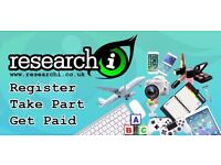 Paid Market Research Projects across the UK - Quick, free registration. £40+ per hour