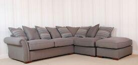 Buoyant Grey Luxor 2 Piece corner sofa £699