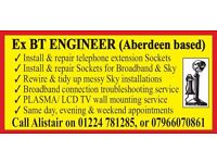 Ex BT Telephone Engineer - Aberdeen based- covers all areas between Elgin and Dundee