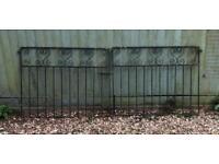 Decorative Wrought Iron Pair of Gates