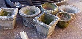 6 Stone Planters